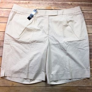 NEW Talbots Women's Pinstripe Shorts